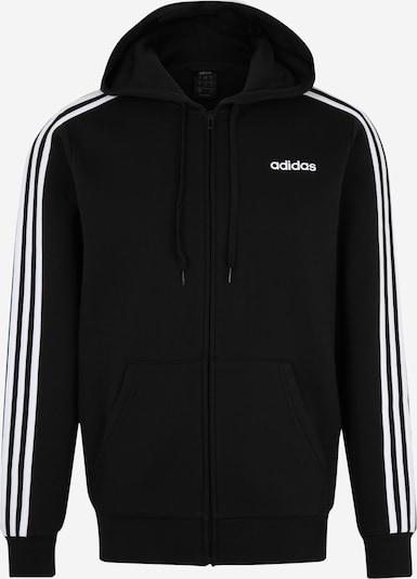 Bluză cu fermoar sport 'E 3S FZ FL' ADIDAS PERFORMANCE pe negru / alb, Vizualizare produs