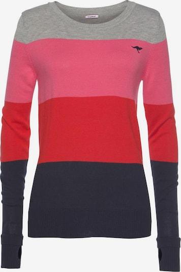 KangaROOS Pullover in nachtblau / graumeliert / pink / rotmeliert, Produktansicht