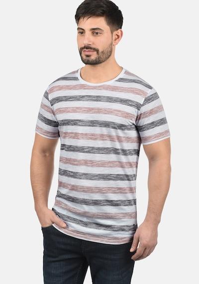 !Solid Rundhalsshirt 'Tet' in orange / weiß: Frontalansicht