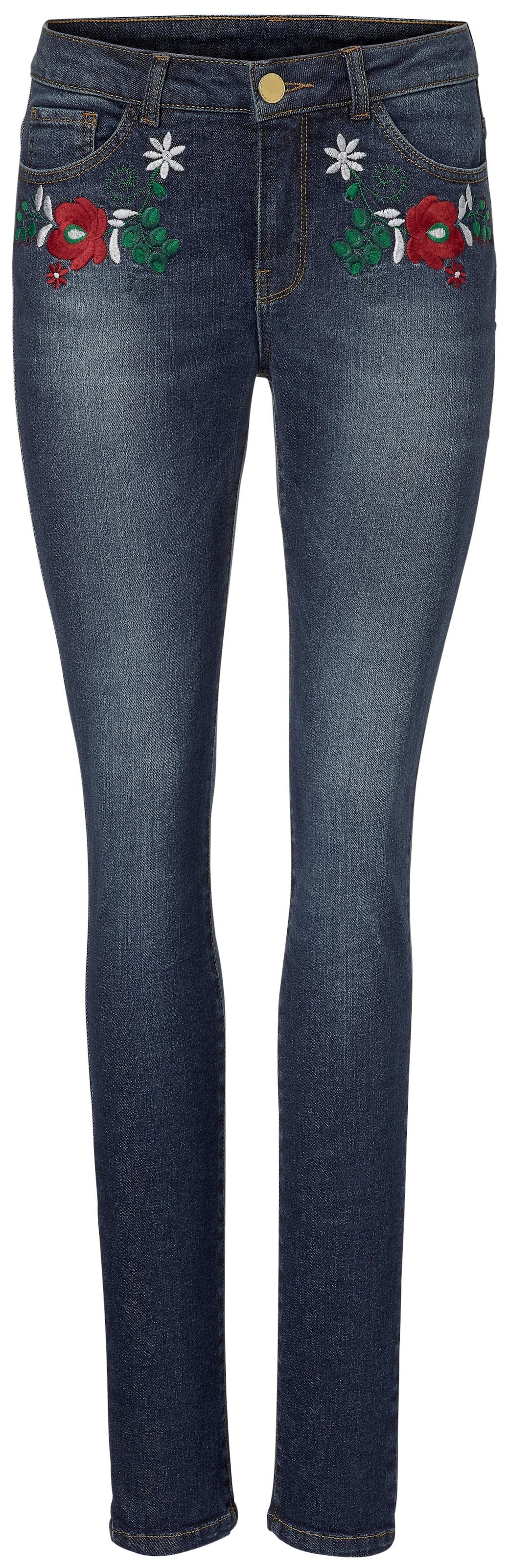 B.C. Best Connections by heine Jeans mit Blumenstickerei Großer Rabatt Zum Verkauf ES8Ii