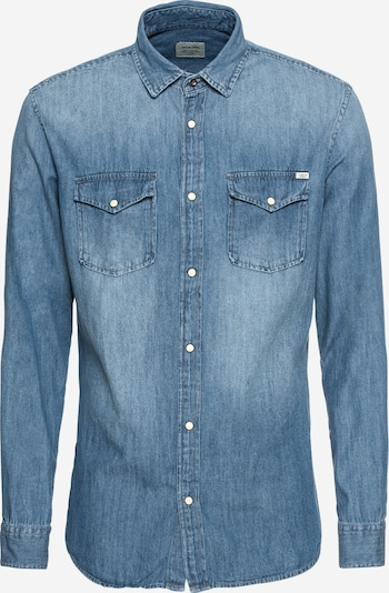 JACK & JONES Hemd in blue denim, Produktansicht