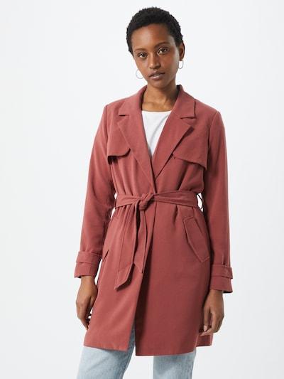 ONLY Manteau mi-saison 'ONLFANNY-RUNA LIFE L/S COATIGAN PNT' en rouge clair, Vue avec modèle