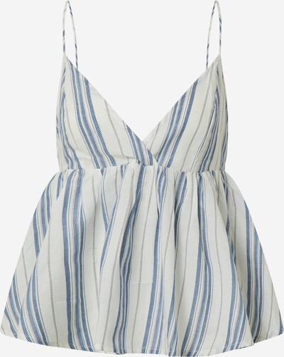 Y.A.S Top 'YASBREEZA SINGLET - ICONS' in blau / offwhite, Produktansicht