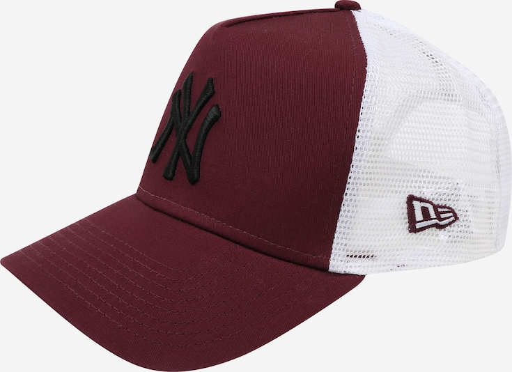 NEW ERA Cap 'ESSENTIAL AFRAME TRUCKER' in bordeaux / schwarz / weiß, Produktansicht