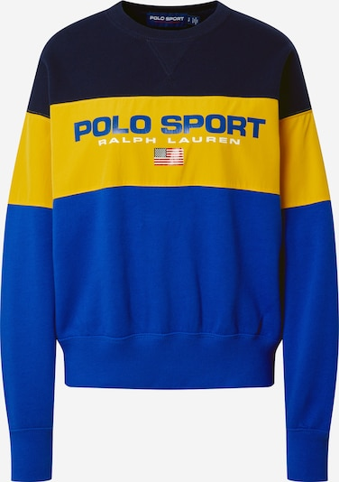 POLO RALPH LAUREN Sweatshirt in de kleur Navy / Royal blue/koningsblauw / Geel, Productweergave