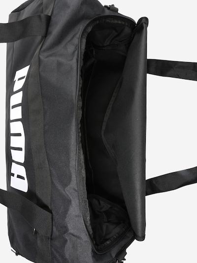 PUMA Sac de sport en noir / blanc: Vue de dessus
