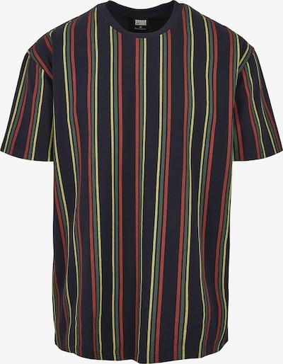 Urban Classics Shirt in dunkelblau / gelb / rot: Frontalansicht