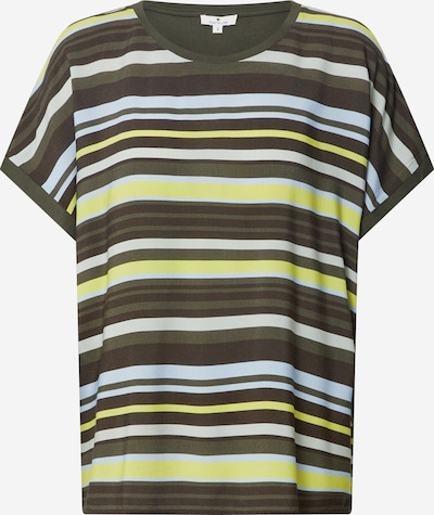 TOM TAILOR Shirt in de kleur Lichtblauw / Geel / Kaki / Wit, Productweergave