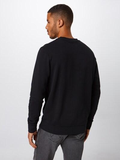 Bluză de molton 'SIGN OFF CREW' WRANGLER pe negru: Privire spate