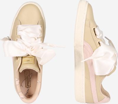 PUMA Sneaker 'Basket Heart Coach' in creme: Seitenansicht