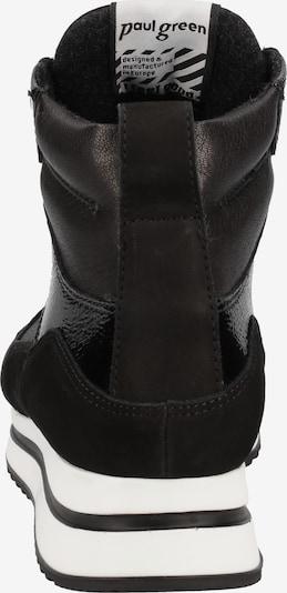 Paul Green Sneakers hoog in Zwart / Wit NHdqdVNP