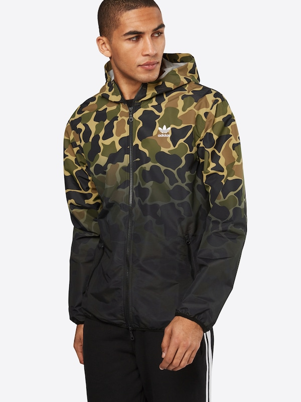 adidas originals jacke 39 camo wb 39 in gr n about you. Black Bedroom Furniture Sets. Home Design Ideas