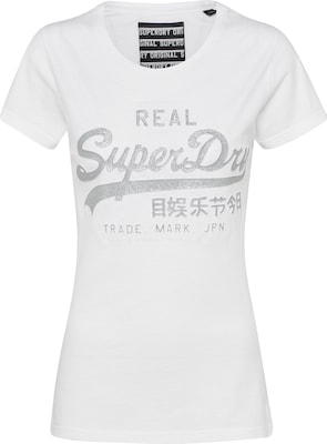 Superdry T-Shirt 'VLOGO EMBOSS GLITTER ENTRY'