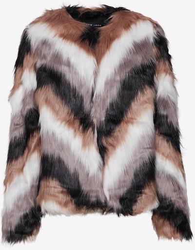 NEW LOOK Zimní bunda 'UNICORN COAT' - hnědá / šedá / bílá, Produkt