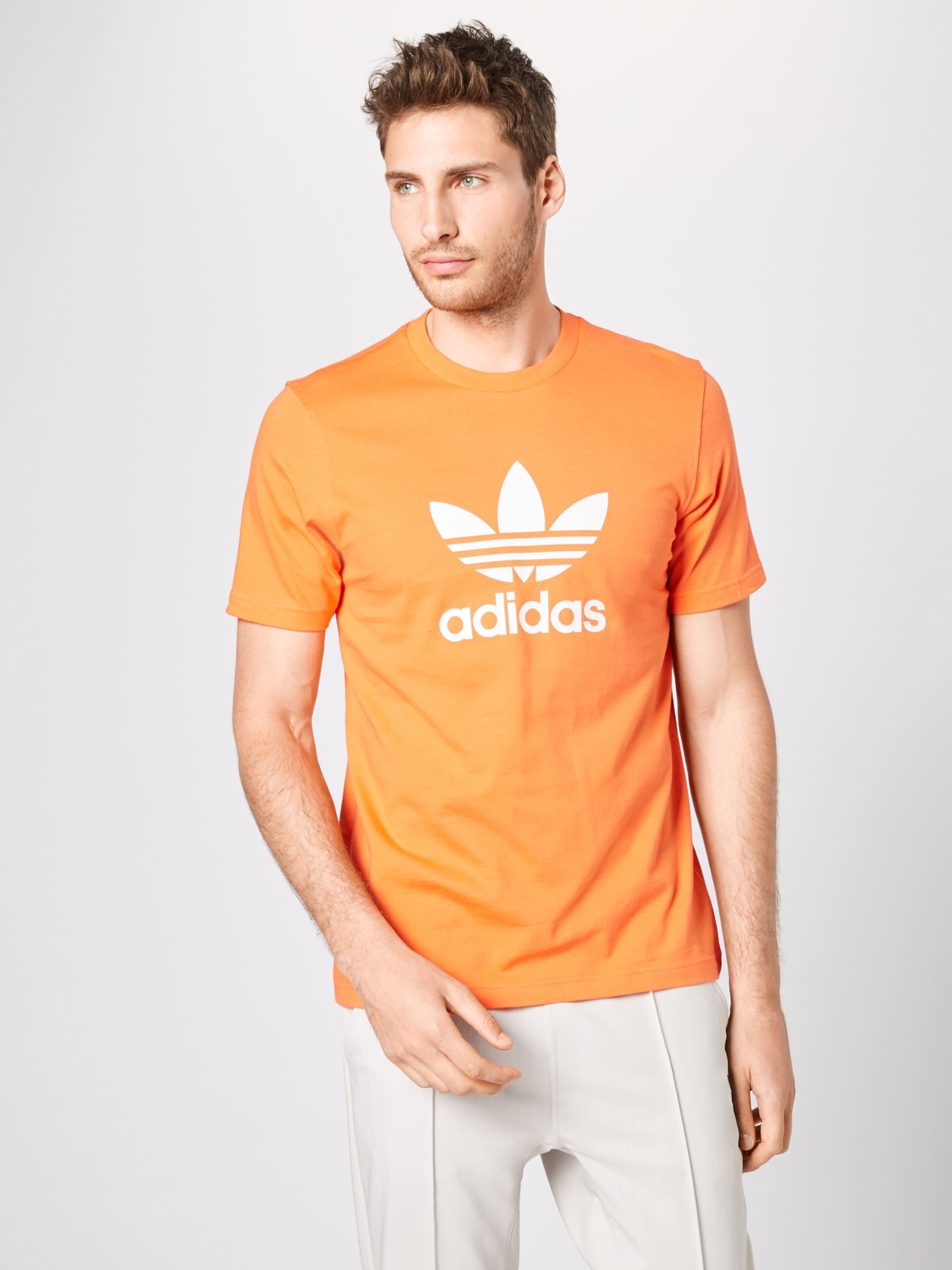 'trefoil' Originals shirt OrangeWeiß In Adidas T Nw8nm0