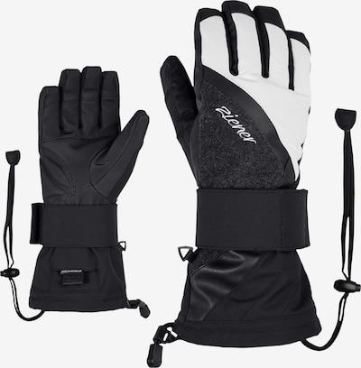 ZIENER Snowboardhandschuhe 'Milana AS(R) Lady Glove SB' in schwarz / naturweiß, Produktansicht