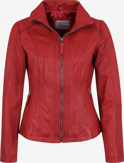 7ELEVEN Lederjacke Padua in klassischem Design in rot, Produktansicht