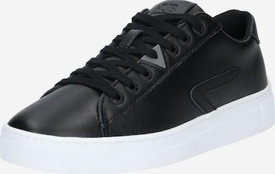 HUB Nízke tenisky - čierna / biela: Pohľad spredu