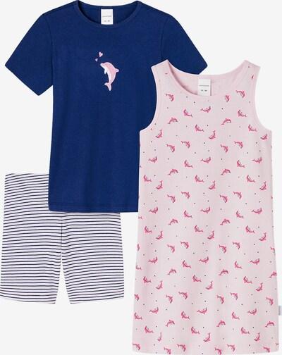 SCHIESSER Schlafanzug- Set in blau / rosa / weiß, Produktansicht