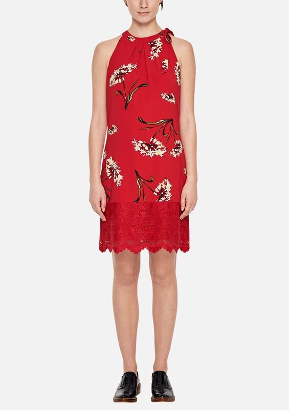 s.Oliver BLACK LABEL Fließendes Kleid mit Spitze