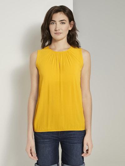TOM TAILOR Blouse in de kleur Geel, Modelweergave