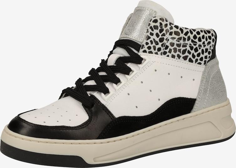 BULLBOXER Sneakers hoog in Zwart / Zilver / Wit ipdYq9Ti