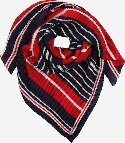 ESPRIT Stoffen mondkapje 'Plisseesqua' in de kleur Navy / Rood / Wit, Productweergave