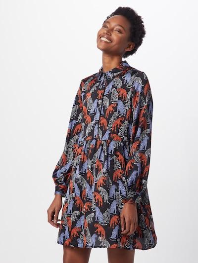 VERO MODA Sukienka koszulowa w kolorze gołąbkowo niebieski / pastelowa czerwień / czarnym, Podgląd na modelu(-ce)
