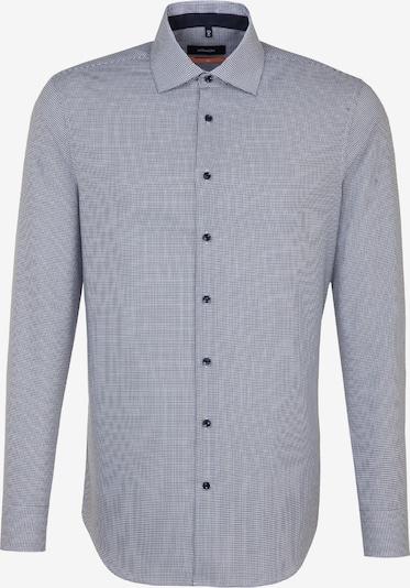 SEIDENSTICKER Zakelijk overhemd in de kleur Marine / Wit: Vooraanzicht