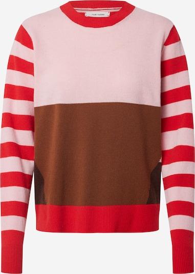 Pullover 'EUGENE' NUÉ NOTES di colore marrone / rosa chiaro / rosso, Visualizzazione prodotti