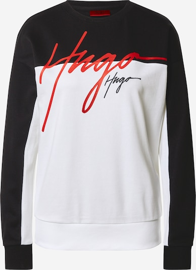 HUGO Sweatshirt 'Nacinia' in de kleur Navy / Wit, Productweergave