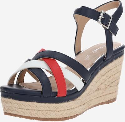 MARIAMARE Sandalen met riem 'NEBET' in de kleur Beige / Donkerblauw / Rood, Productweergave