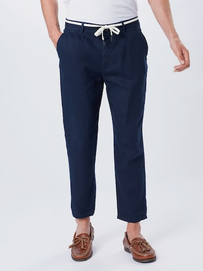 TOM TAILOR DENIM Chinohose in dunkelblau, Modelansicht