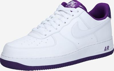 Nike Sportswear Baskets basses 'Air Force 1 '07' en violet / blanc, Vue avec produit