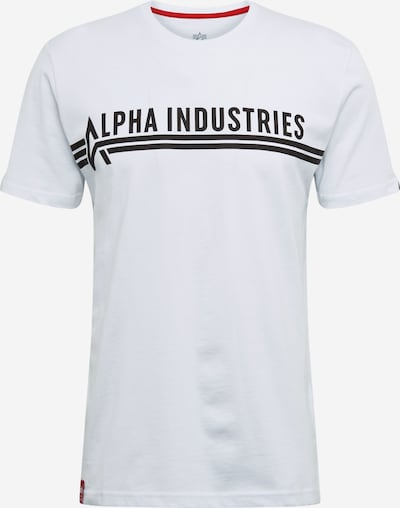 fekete / fehér ALPHA INDUSTRIES Póló 'Alpha Industries T', Termék nézet