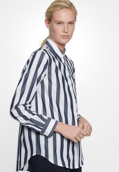 SEIDENSTICKER Bluse in nachtblau / weiß, Modelansicht