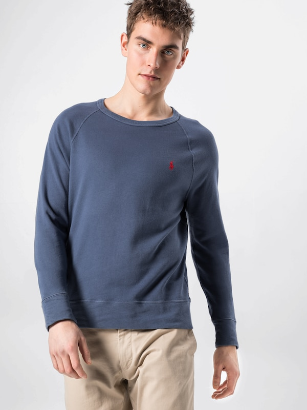 POLO RALPH LAUREN Sweat-shirt 'LSCNM1-LONG SLEEVE-KNIT K191SC12' en bleu marine: Vue de face