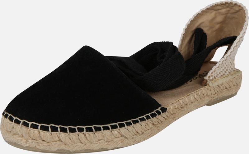 Sandales 'pyrenées 1 Lacet Velour' Noir En L´originale Espadrij 80XnwPkO