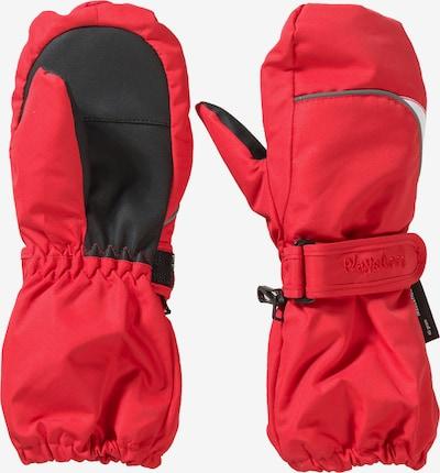 PLAYSHOES Fäustlinge in rot / schwarz, Produktansicht