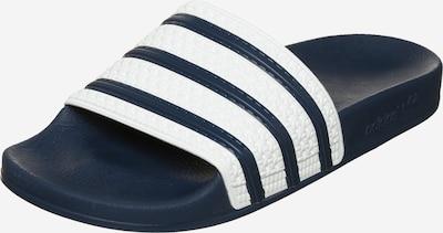 ADIDAS ORIGINALS Pantolette 'Adilette' in navy / weiß, Produktansicht