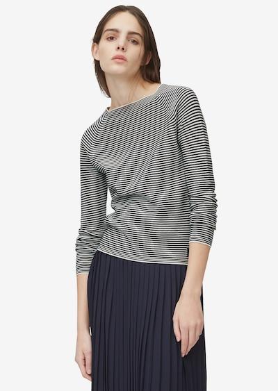 Marc O'Polo DENIM Pullover in schwarz / weiß, Modelansicht