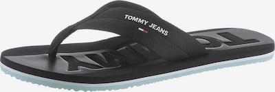Tommy Jeans Zehentrenner in mint / schwarz / weiß, Produktansicht