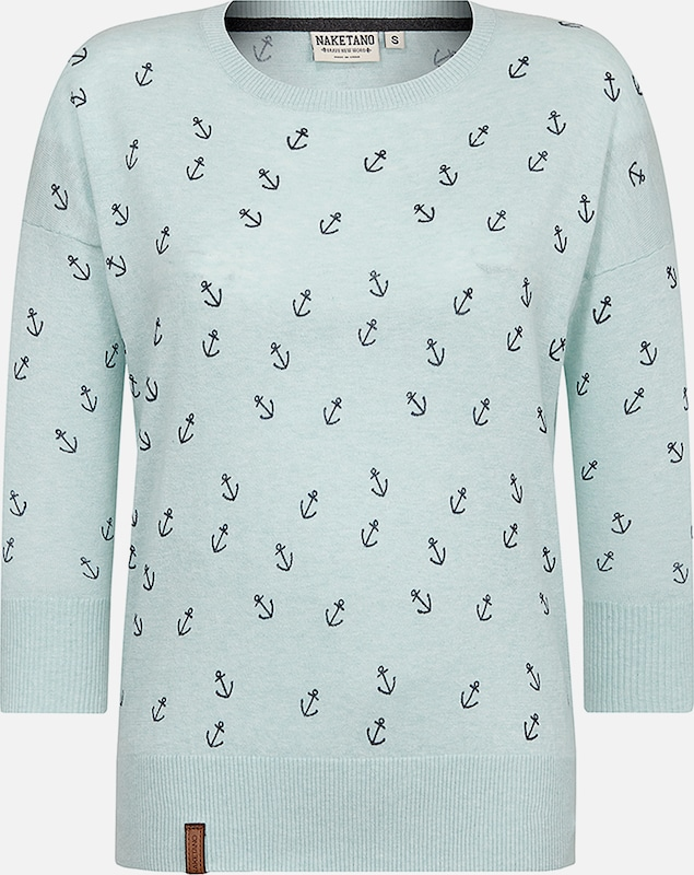 naketano Pullover 'Maja Big Anchor' in mint, Produktansicht