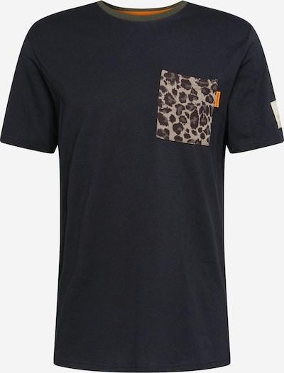 Redefined Rebel T-Shirt 'Palmer' en brocart / brun foncé / noir, Vue avec produit