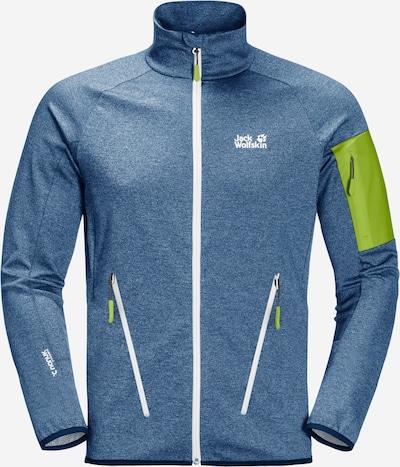 JACK WOLFSKIN Sportovní bunda 'MILFORD' - modrá džínovina / svítivě zelená, Produkt