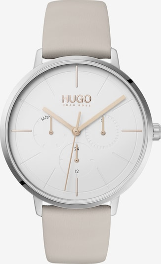 "HUGO Analog Quarz  ""Damen-Uhr"" in beige, Produktansicht"