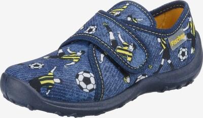 Fischer-Markenschuh Hausschuh 'Fußball' in blau, Produktansicht