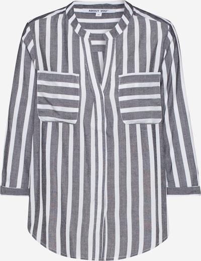 ABOUT YOU Bluza 'Hanna' | siva / bela barva, Prikaz izdelka