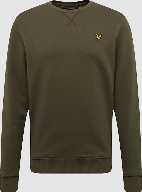 Lyle & Scott Sweatshirt 'Crew Neck Sweatshirt' in oliv  Großer Rabatt