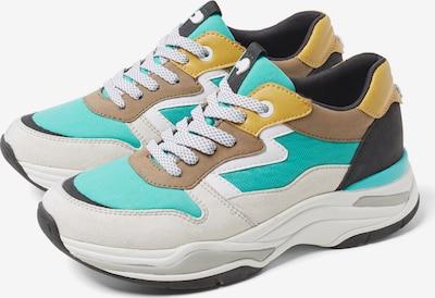TOM TAILOR DENIM Sneaker in goldgelb / jade / offwhite, Produktansicht